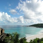 The spectacular beach of Grand Anse on the island of La Digue, Seychelles