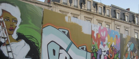 Street art comepetition in Montpellier
