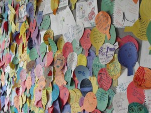 Colorful comments board