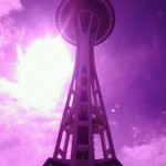 seattle space needle purple