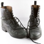 Black leather paddock boots