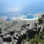Camps Bay, Cape Town, South Africa from the summit of Table Mountain.